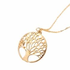 Circular Hollow Out Wishing Tree Liontin Kalung Perhiasan Grosir Ke Pohon Kehidupan-Internasional