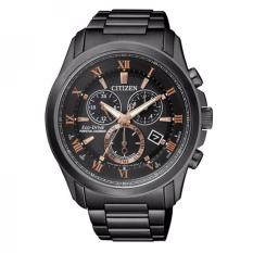 CITIZEN BL5545-50E - Eco-Drive - Perpetual Calender - Chronograph - Jam Tangan Pria - Bahan Tali Stainless Steel - Hitam