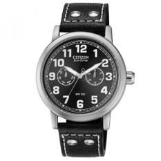 Citizen Mens AO9030-21E Eco-Drive Avion Black Leather Strap Watch - intl