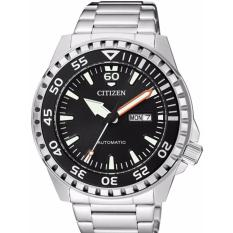 CITIZEN NH8388-81E - Automatic - Jam Tangan Pria - Bahan Tali Stainless Steel - Silver
