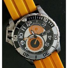 Cjw Man Sport Dial Rubber Strap Watches Terbaru