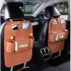 Clairmont Car Seat Organizer Tas Mobil Multifungsi Belakang Jok - Cokelat