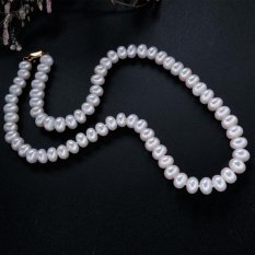 Jual Classic Natural Freshwater Pearl Necklace For Women Best Gift For Mother White Pearl Intl Baru