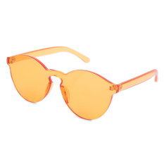 Toko Klasik Bingkai Transparan Lingkaran Permen Warna Sunglasses Orangepink Yang Bisa Kredit