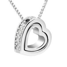 Promo Jelas Double Kalung Liontin Hati Valentine S Day Cinta You Perhiasan Kalung Perhiasan Pernikahan Putri Ibu Pacar Akhir Tahun