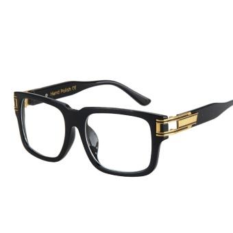 Price Checker Bening Lensa Rectangle Kacamata Bingkai Pria Desain Kualitas Tinggi Hitam Mata Transparan Bingkai Kacamata