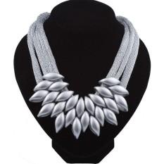Clearance Harga Sunweb Baru Fashion Wanita CBB Zaitun Pernikahan Pesta Kasual Kalung dengan Anting-Anting (Emas)-Intl