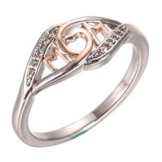 Clearance Harga Sunweb Wanita Ibu Ibu Surat Cincin Fashion Jewelry Hadiah (Emas)-Intl