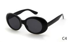 Clout Goggles NIRVANA Kurt Cobain Kacamata 2017 Classic Vintage Retro Putih Oval Sunglasses Alien Shades 90 S Sun Glasses Wiz Khalifa Neff-Intl