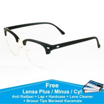 Beli sekarang Clubmaster Frame Kacamata Baca   Plus   Minus Anti Radiasi  Komputer terbaik murah - d6e46a7746