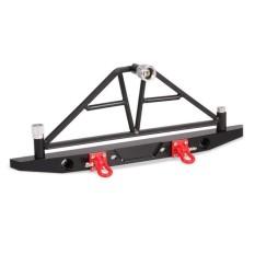 CNC Aluminium Bemper Belakang W/LED Ringan untuk Aksial SCX10 Crawler 4WD Truk RC-