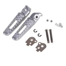 CNC Universal Motor Foot Pegs Rider Rear Footrests Sepeda Foot Pegs Pedal untuk Honda Hornet Grom CBR 600 900 RR CB 400 600-INTL