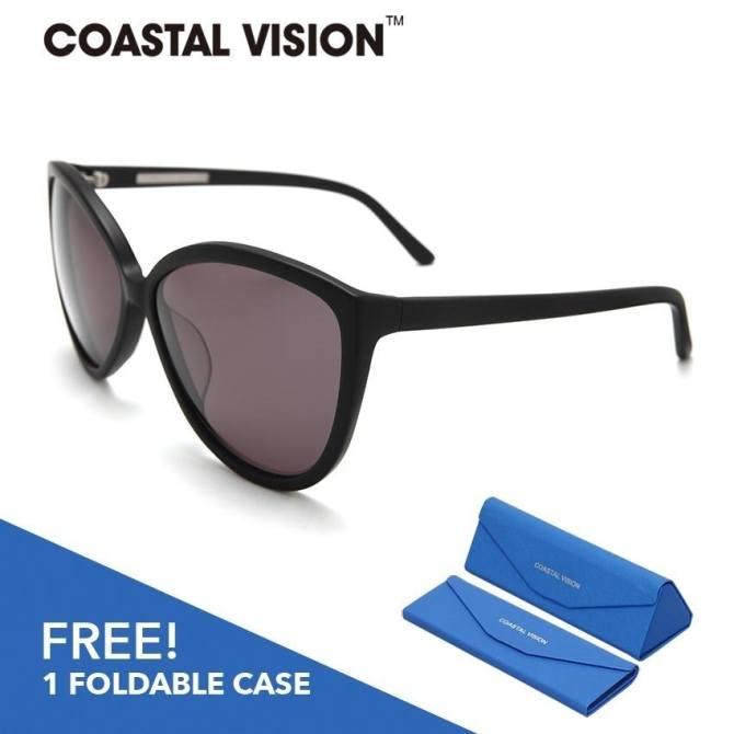 COASTAL VISION Kacamata Wanita Hitam Cat Eye lensa anti UVA/B CVS5204