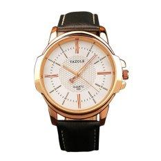 Coconie Men Luxury Stainless Steel Quartz Military Sport LeatherBand Dial Wrist Watch Black - intl