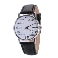 coconie Women Mens Leather Stainless Steel Watch Sport Quartz Wrist Watch - intl