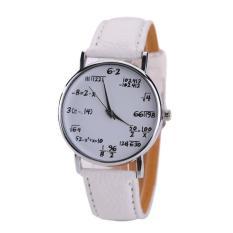 Coconie Women Mens Kulit Stainless Steel Watch Sport QUARTZ Wrist Watch-Intl