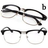 Jual Beli Cocotina Fashion Vintage Retro Kacamata Setengah Bingkai Lensa Bening Aneh Pecandu Kacamata Menggunakan Terang Hitam And Perak Hong Kong Sar Tiongkok