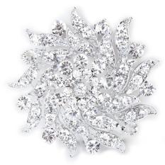 Jual Cocotina Kristall Strass Blumen Brauthochzeits Blumenstrauß Silber Brosche Intl Cocotina Murah