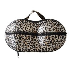 Jual Cocotina Portable Travel Bra Underwear Lingerie Storage Case Organizer Zipper Bag Leopard Original