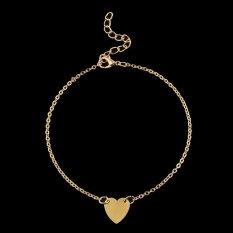 Cocotina Wanita Hati Cinta Rantai Pergelangan Kaki Gelang Pergelangan Kaki Perhiasan Kaki Sandal Pantai-Gold