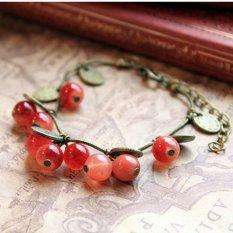 Jual Cocotina Vintage Pesona Wanita Cherry Manik Manik Rantai Gelang Jewellry Manset Branded Murah
