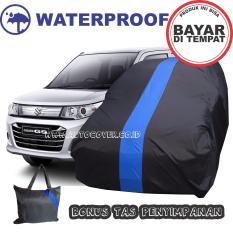 COD - Sarung Penutup Cover Body Mobil Suzuki Karimun List Biru Waterproof Selimut Bodi Pelindung