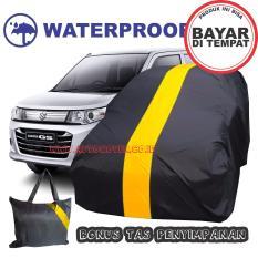 COD - Sarung Penutup Cover Body Mobil Suzuki Karimun List Kuning Waterproof Selimut Bodi Pelindung