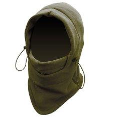 Diskon Collagen Masker Kupluk Helm Buff Topi Syal Scarf Motor Camping Gunung Polar 6 In 1 Coklat