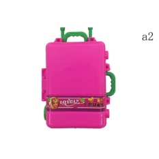 Color Random 2 Pcs Cute Travel Suitcase Luggage Case Trunk For Girl Doll House Gift A2 - intl