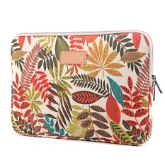 Colorful Leaves Pattern Canvas Protective Case Pouch Bag for Apple MacBook Pro Air Acer Asus Dell iPad Lenovo Surface Universal 15 inch Laptop Sleeve Color B - intl