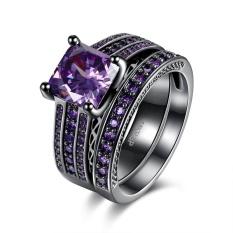 Beli Combinations Of Rings Squares Blue Crystal Rings Ladies Lkn18Krgpr883 C 8 Intl Yang Bagus