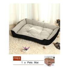 Jual Nyaman Lembut Tempat Tidur Anjing Dicuci Hangat Kandang For Hewan Peliharaan Supplies Black M Intl Branded