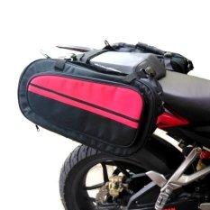 Harga Cosh Sidebag Tas Samping Motor Oval Hardcase Stripping Merah Terbaik