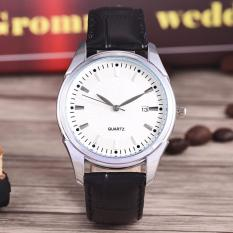 Costie Land - Jam Tangan Pria - Body Silver/White Dial -Costie Land -CL- 5500B-G-SW-TGL-(Silver)-Black Leather