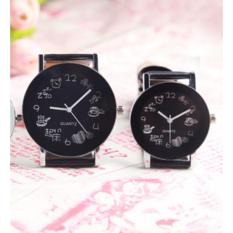 Couple Watches CUP Korean Style Analog Watch Cowo Cewe Kulit Jam Tangan