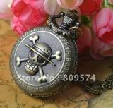Ulasan Mengenai Kupon Untuk Grosir Pembeli Harga Baik Kualitas Wanita Wanita Wanita Fashion Vintage Perunggu One Piece Skull Pocket Watch Kalung Jam Intl