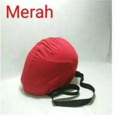 COVER HELM ANTI AIR - Raincoat - Jas Hujan Helm Tas Helm Sarung Helm - Merah