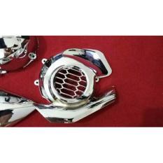 Cover Kipas Mio Z 125 Blue Core - Chrome