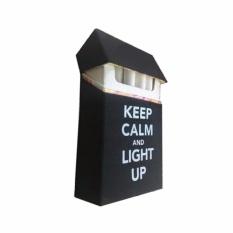 Cover Kotak Rokok Silicone Keep Calm Anti Air - Hitam