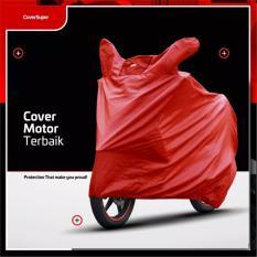 Ulasan Mengenai Cover Motor Sarung Motor Mantel Motor Matic Dan Bebek Size L Merah