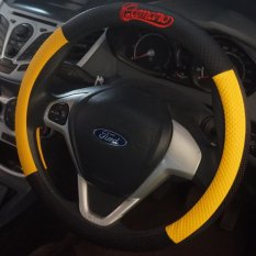 Cover Sarung Stir Setir Steer Mobil Universal Camaro Hitam Kuning Promo Beli 1 Gratis 1