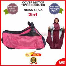 COVER SELIMUT MOTOR 2in1 Big Skutik NMAX & PCX Bisa Jadi Jas Hujan - Merah