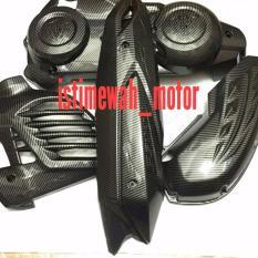 Spesifikasi Cover Set Aerox155Cc Cvt Knalpot Hawa Radiator Carbon Nemo Mengkilap Lengkap Dengan Harga