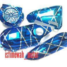 Cover Set Cvt Hawa Knalpot Kipas Beat Pop Esp Beat Stret Terbaru Scoopy Esp Blue Xxx Original