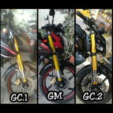 Cover Shock USD Gold Chroome Verza Vixion CB R15 GSX NMP Dll