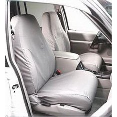 Covercraft SeatSaver Second Row Custom Fit Seat Cover for Select Ram Pickup Models - Polycotton (Charcoal) - intl