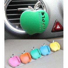 Kreatif Apple Bentuk Mobil AC Ventilasi Parfum Pengharum ruangan Aroma Biru-Intl