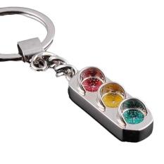 Kreatif Lampu Lalu Lintas Gantungan Kunci Ring Keyring Logam Gantungan Kunci-Internasional