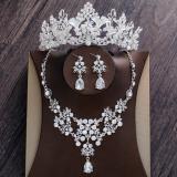 Jual Set Perhiasan Kalung Anting Mahkota Untuk Pengantin Wanita