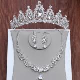 Harga Set Perhiasan Kalung Anting Mahkota Untuk Pengantin Wanita Oem Baru